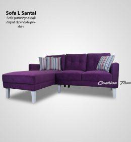 Sofa Tamu L Minimalis Retro Premium Anturium Maserrati Purple