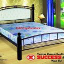 Ranjang Besi Semi Kayu Success Classic 160 x 200 cm Tanpa Kasur