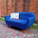 Sofa Tamu Retro Scandinavian Crysant 2 Seater Vienna Blue Best Seller
