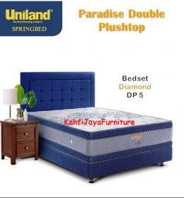 Springbed Uniland Paradise Double Plushtop 160 x 200 cm Full Set