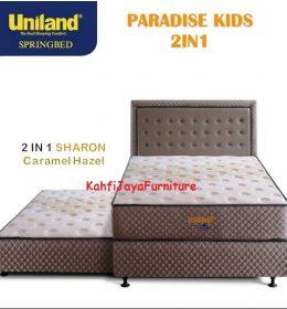 Springbed Uniland Paradise 2in1 Sorong 120 x 200 cm Sharon Caramel Hazel