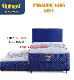 Springbed Uniland Paradise 2in1 Sorong 120 x 200 cm Yoona Blue Hazel