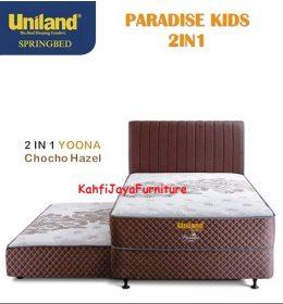 Springbed Uniland Paradise 2in1 Sorong 120 x 200 cm Yoona Choco Hazel