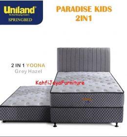 Springbed Uniland Paradise 2in1 Sorong 120 x 200 cm Yoona Grey Hazel